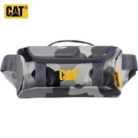 CAT 卡特彼勒 CAT/美国卡特腰包潮流PVC贴身战术包隐蔽口袋大开口手机小包灰迷彩 83680