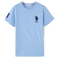 U.S. POLO ASSN. 美国马球协会 2021男士短袖T恤休闲棉质男式短袖T恤百搭