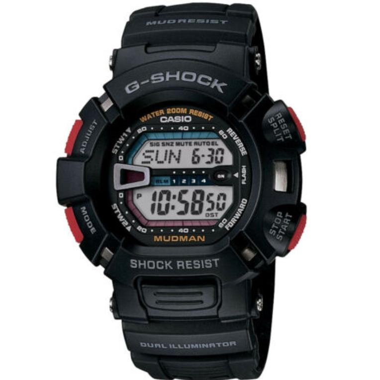 CASIO 卡西欧 G-SHOCK Mudman 泥人系列 G-9000-1V 男士腕表