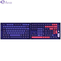Akko 艾酷 AKKO 霓虹键帽大全套PBT二色成型正刻定制个性键帽适配87键108键