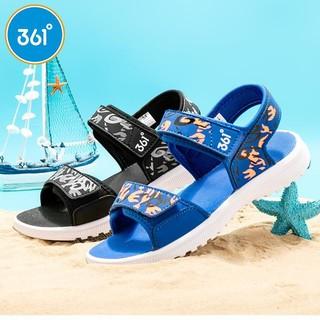 361° 361度 361童鞋男中大童2021夏季热卖迷彩舒适防滑耐磨沙滩凉鞋N71922608