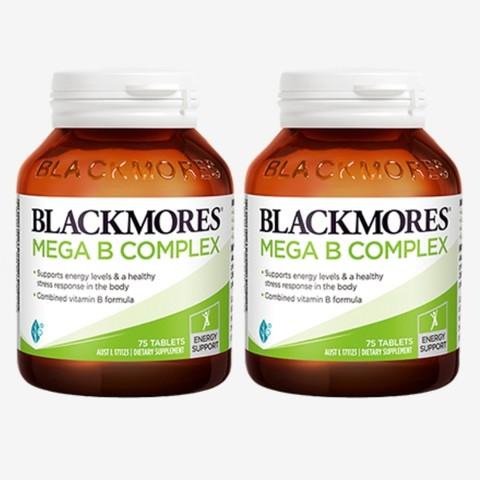 黑卡会员:BLACKMORES 澳佳宝  复合B族焕能配方 75片/瓶 *2瓶