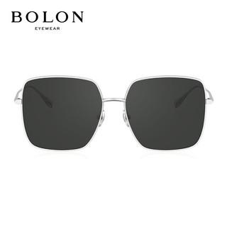 BOLON 暴龙 BOLON暴龙眼镜2021新品男女偏光太阳镜墨镜杨幂同款方形BL7152 C90-灰色