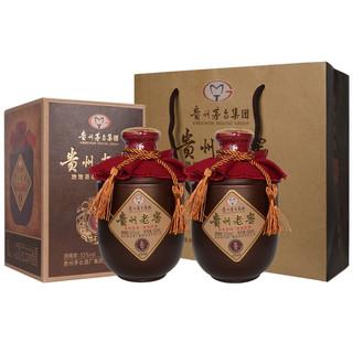 京东PLUS会员 : 贵州 茅台集团 老窖 53度柔和酱香型白酒礼盒装 500ml 老坛酒*2瓶装