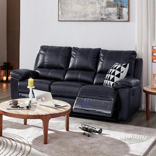 CHEERS 芝华仕 芝华仕头等舱沙发 功能沙发现代简约布艺沙发组合 中小户型客厅家具8908A 象牙黑 三人位 15天内发货