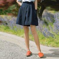 INMAN 茵曼 1802418HM405 舒适休闲五分裙裤