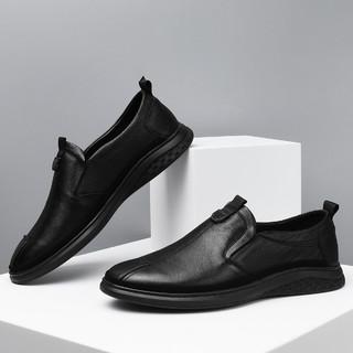 HLA 海澜之家 2021夏季男士新款真皮商务休闲鞋经典皮鞋正装鞋男鞋商务鞋
