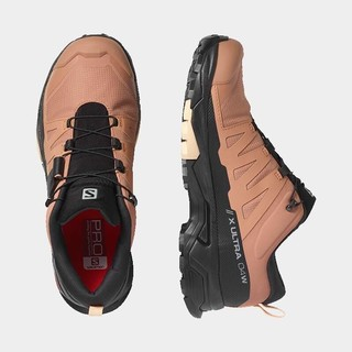 salomon 萨洛蒙 萨洛蒙(Salomon)女款 户外运动防水透气舒适保暖便捷系带登山徒步鞋 X ULTRA 4 GTX 慕斯粉 412897 UK5(38)