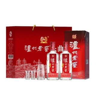 LUZHOULAOJIAO 泸州老窖 泸州老窖头曲礼盒 55度625ml*2瓶浓香型送礼白酒 新老包装随机发