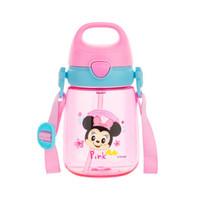 Disney 迪士尼 迪士尼(Disney)宝宝学饮杯吸管杯 儿童水杯子防漏手提杯盖Tritan水壶 400ml粉色米妮