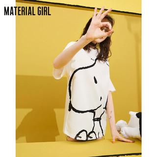 Material Girl ×史努比联名 女士短袖T恤 M2DAA2225