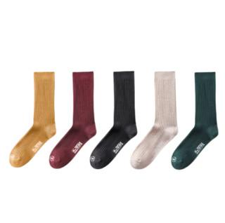 KAPPA 卡帕 女士长筒袜套装 KP0W21-PK 3双装(姜黄+砖红+墨花灰)
