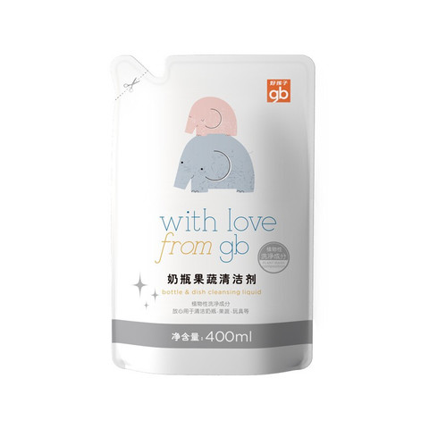 gb 好孩子 奶瓶餐具清洁剂补充装 400ml