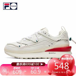 FILA 斐乐  FUSION 斐乐男子老爹鞋2021春季新款运动鞋休闲圣诞款JOGGER 灰/红/绿 41