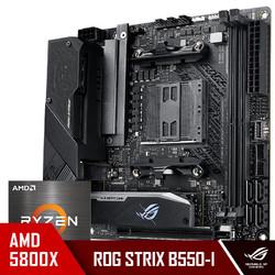 ASUS 华硕 玩家国度ROG STRIX B550-I GAMING主板+AMD 锐龙r7 (R7)5800X CPU处理器 板U套装 CPU主板套装
