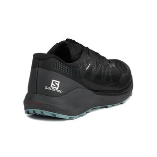 salomon 萨洛蒙 萨洛蒙(Salomon)男款 户外轻便透气减震耐磨越野跑鞋 SENSE RIDE 3 黑色 409563 UK9(43 1/3)