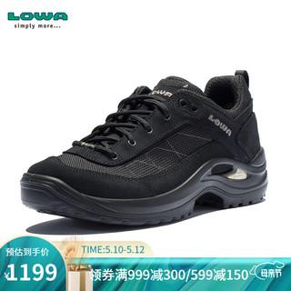 LOWA  德国 徒步鞋作战靴户外防水登山鞋 TAURUS II GTX 进口女款低帮 L320527 黑色 37