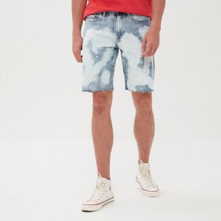 Gap 盖璞 Gap男装纯棉潮流牛仔短裤夏季582475新款做旧水洗男士裤子