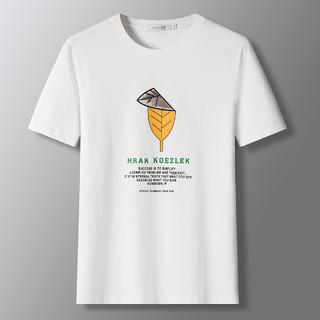 ROMON 罗蒙 夏季新品韩版宽松圆领印花套头t恤男士短袖T恤男