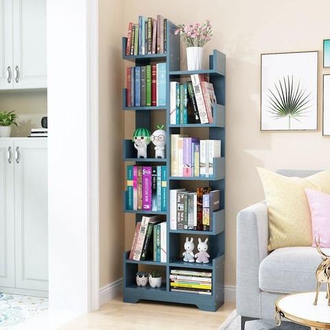 米囹 落地书架家用学生多层置物架书柜