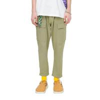 ViiSHOW 2021新款夏季新款休闲长裤男工装男士九分裤拼接口袋男休闲长裤