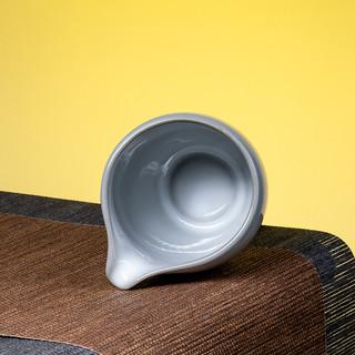 熹谷 月白公道杯单个陶瓷茶海分茶器功夫茶具茶道配件 月白公道杯