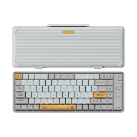 LOFREE 洛斐 OE901 小浪 蓝牙机械键盘 84键 茶轴