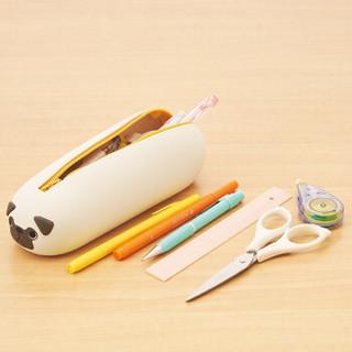 日本LIHIT LAB.PUNILABO可爱卡通动物硅胶笔袋小学生大容量铅笔盒男女文具盒笔筒文具袋 L小海豹