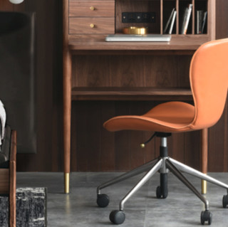 joooi 住意家居 中古系列 MCM 书桌柜+马鞍椅 胡桃木色