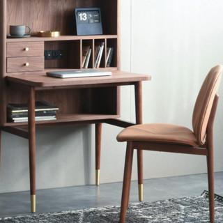 joooi 住意家居 中古系列 MCM 书桌柜+书椅 胡桃木色