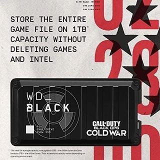 WD_BLACK P50 USB3.2 移动固态硬盘 黑色Ops Cold War特别版 1TB