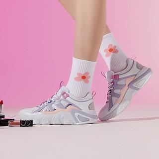 361° 361度 361°女鞋运动鞋2020秋季新款网面透气厚底彩色ins老爹鞋女休闲鞋
