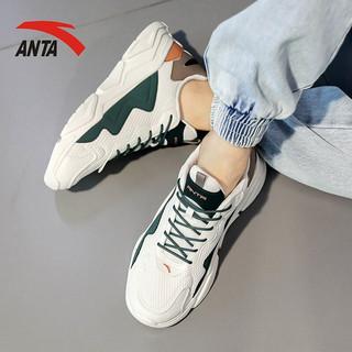 ANTA 安踏 跑步鞋运动鞋男士春季夏季休闲耐磨轻便板鞋慢跑步鞋子户外训练旅游 -4浅米白/亚麻灰 41