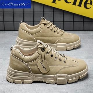 拉夏贝尔旗下La Chapelle+马丁靴低帮英伦百搭工装靴男潮流秋冬季