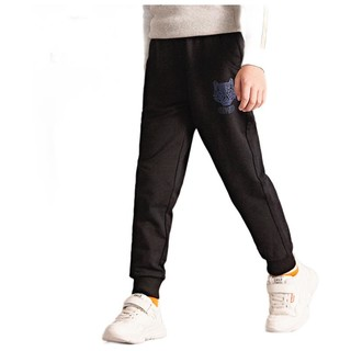 SEPTWOLVES 七匹狼  男童休闲裤 黑色 110cm