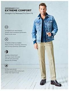 Lee 男士Performance系列舒适型直筒裤 海军蓝