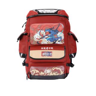 LNG 中国选手李宁联名背包双肩包2021新款运动大容量篮球书包学生 红色 20-35升