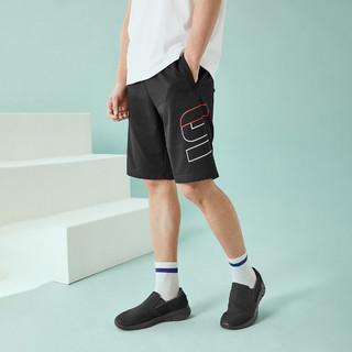 SKECHERS 斯凯奇 2021夏季新款男裤子舒适休闲束带裤针织运动短裤