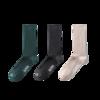 KAPPA 卡帕 女士长筒袜套装 KP0W21-PK 3双装(浅灰驼+深墨绿+墨花灰)