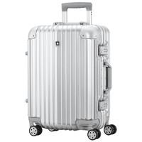 SWISSMOBILITY 瑞动 瑞动铝框行李箱万向轮拉杆箱男女士登机箱旅行箱 20英寸奢华银