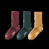 KAPPA 卡帕 女士长筒袜套装 KP0W21-PK 3双装(姜黄+砖红+深墨绿)