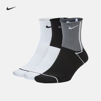 NIKE 耐克 Nike耐克官方EVERYDAY PLUS LIGHTWEIGHT女子训练运动袜3双CK6021