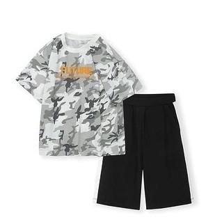 balabala 巴拉巴拉 男童T恤短裤套装