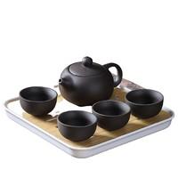 澜扬  陶瓷茶具套装 茶壶*1+茶杯*4+茶盘*1