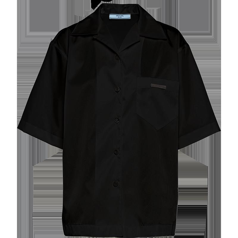 PRADA 普拉达 女士短袖衬衫 240691_1YFL_F0002_S_202 黑色 40