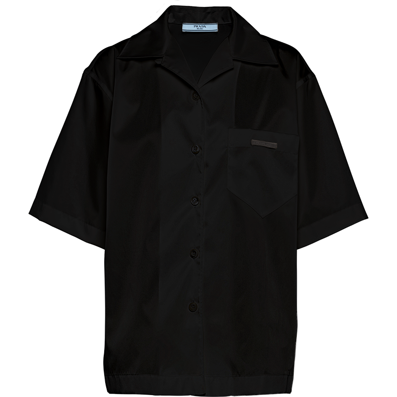 PRADA 普拉达 女士短袖衬衫 240691_1YFL_F0002_S_202 黑色 38
