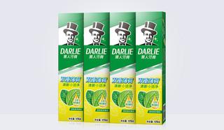 黑人牙膏双重薄荷家庭装清新口气成人牙膏去口臭225g*4