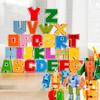 BainGesk 贝恩吉 儿童数字变形玩具金刚合体机器人大颗粒积木恐龙字母拼装认知男孩女孩3-6岁生日新年礼物 套字母变形(26个字母A-Z)