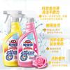 花王(KAO)魔术灵浴室清洁剂组合装 卫生间玻璃不锈钢除垢去渍清洗剂玫瑰香500ml+柠檬香500ml