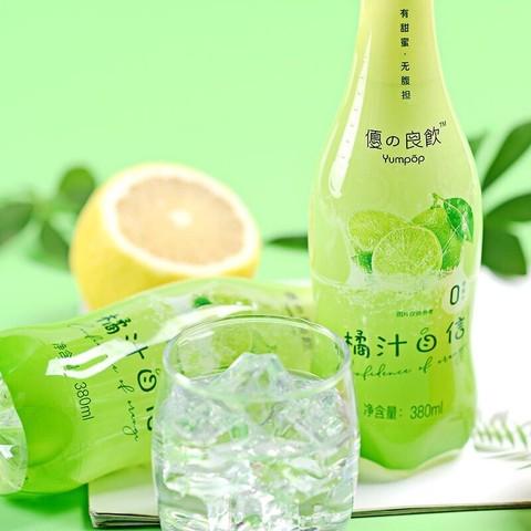 优之良饮(Yumpop) 苏打气泡水 无糖0脂卡 白桃子葡萄橘味饮料汽水 380ml*6 桃之夭夭(6瓶装)